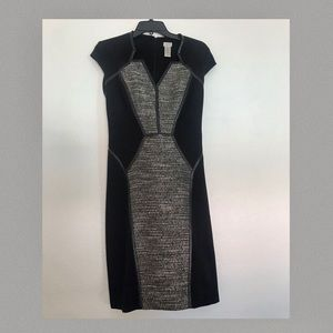 Cache Black and Grey Dress